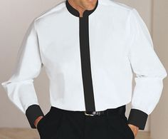 A mandarin collar is a short unfolded stand-up collar style on a shirt or jacket. The mandarin collar shirt is a nice alternative to ordinary shirts.