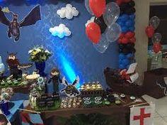 Resultado de imagem para festa infantil de como treinar o seu dragão
