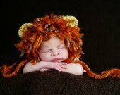 Leo Lion Earflap Beanie - Newborn Hats - Halloween - Photography