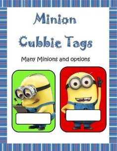 This is a Minion set of cubbie tags, Library box tags, name tags or class dcor. There are six different Minions and many different background colors/patterns. The pattern backgrounds are Zigzag and poke a dot. Backgrounds are in twelve different colors. Minion Classroom Theme, Minion Theme, 3rd Grade Classroom, Kindergarten Classroom, Future Classroom, Classroom Themes, School Classroom, Teacher Created Resources, Teaching Resources