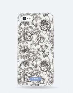 funda-movil-flores-negras Phone Cases, Blue, See Through, Black Flowers, Blue Nails, Mobile Cases, Phone Case
