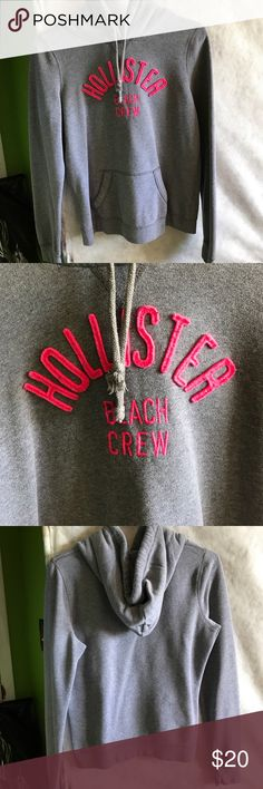 ❣️🎉 Hollister Gray/Pink Hoodie Condition is flawless, hoodie, size Medium. Hollister Sweaters