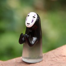 Action Figure random Miyazaki Hayao Spirited Away No Face Man DIY 4.1cm PVC Ornaments Landscape decoration Doll Model Anime(China (Mainland))