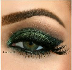 Green Black Smoked Eye