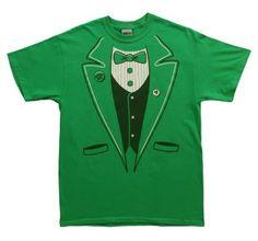 A Great Green Tuxedo shirt just in time for St. Patrick's Day! #green #irish #stpatricksday #stpatricks #funny #holidays #men #tshirts