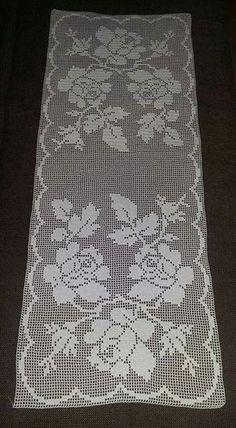 Super Radovi By Marijanka 27 Crochet Table Runner, Crochet Tablecloth, Crochet Doilies, Crochet Flowers, Crochet Home, Hand Crochet, Knit Crochet, Baby Blanket Crochet, Crochet Baby