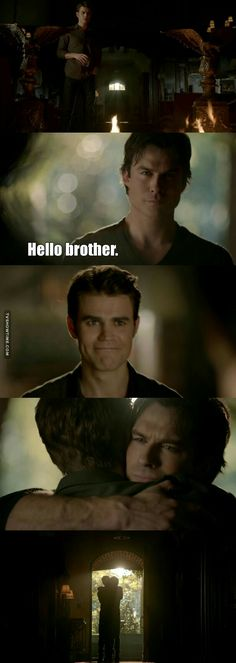 This. This is why I watched TVD, forget Stelena or Delena, I wanted the brothers to make their peace and they did.