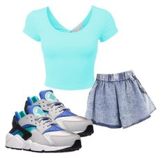 """Untitled #284"" by maliyah182 ❤ liked on Polyvore featuring LE3NO and NIKE"