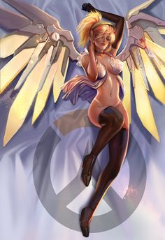 overwatch mercy pillow by jiuge.deviantart.com on @DeviantArt - More at https://pinterest.com/supergirlsart #overwatch #sexy #underwear #lingerie #fanart