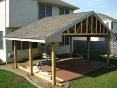 patio on pinterest patio roof covered patios and lean to