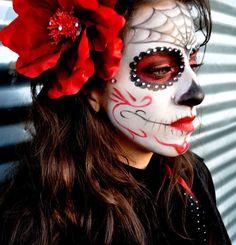 Halloween makeup. sugarskull makeup. day of the dead makeup. dia de los muertos