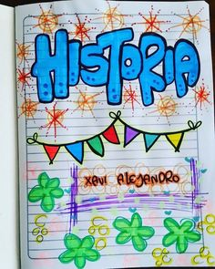 #Temporadaescolar2018 #marcamosTusCuadernos - maju_detalles1 Notebook Art, Notebook Covers, School Notebooks, Cute Notes, Decorate Notebook, Studyblr, Doodle Art, Mandala, Projects To Try