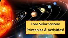 """Solar System Printables & Activities I could have used the """"to scale"""" calculator link when we first study the solar system many years back."""