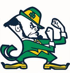 Notre Dame Fighting Irish Cross Stitch Pattern***L Notre Dame Mascot, Notre Dame Football, Notre Dame Logo, Notre Dame Leprechaun, Irish Leprechaun, Noter Dame, Embroidery Designs, Leprechaun Costume, Go Irish