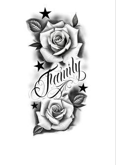 Star Tattoos, Rose Tattoos, Star Tattoo Designs, Rose Family, Stars, Roses, Tattos, Pink, Rose