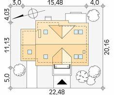 Dudek 4 dom parterowy jednorodzinny z poddaszem i garażem - Jesteśmy AUTOREM - DOMY w Stylu Sliders, Floor Plans, House, Country Houses, Home, House Ideas Exterior, Homes, Floor Plan Drawing, Houses