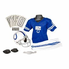 Indianapolis Colts NFL Youth Helmet and Uniform Set by Franklin - Medium $39.99