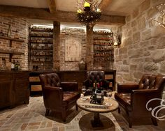 Over 100 Different Man Cave/ Wine Cellar Ideas. http://pinterest.com/njestates/man-cave-wine-cellar-ideas/