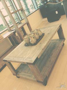 Window Shopping At Urban Home Gray Aged Reclaimed Barn Wood Metal Coffee Table