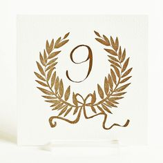 Golden Wreath / mr boddington Wedding Table Decorations, Wedding Table Settings, Stationary Design, Christmas Table Settings, Print Packaging, Italy Wedding, Wedding Paper, Table Numbers, Wedding Events