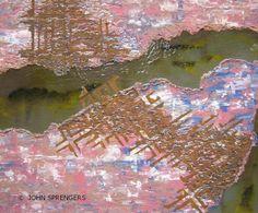 SCHEURING nr. 2, schilderij van John Sprengers .. Kunst / Abstract / Modern / Schilderij