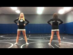 Cute for a little girls cheerleading camp- Go Fight Win cheer at mark Cheer Moves, Cheer Jumps, Cheer Routines, Cheer Stunts, Cheer Dance, Cheerleading Videos, Youth Cheerleading, Cheerleading Workouts, Gymnastics
