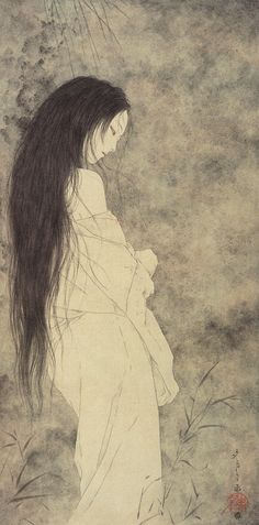 Ghost by Takato Yamamoto *saved by oldsum Yuki Onna, Japan Illustration, Kunst Online, Japanese Folklore, Art Japonais, Japanese Painting, Japanese Prints, Japan Art, Yamamoto