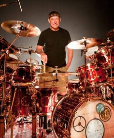 Neil Peart, drum set
