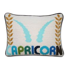 capricorn. It's cute but there is not a pillow in the world I'd pay 100 bucks for.