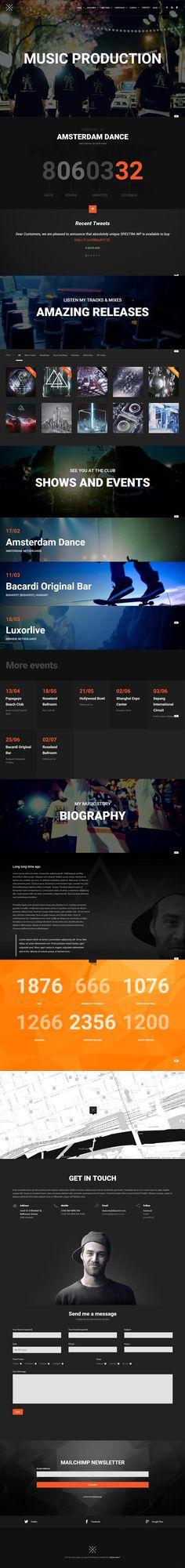 SPECTRA – Responsive Music WordPress Theme #html5wordpressthemes #responsivewordpressthemes #wordpressthemes