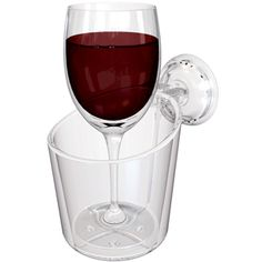 Wine glass holder for the shower. If this is wrong, I don't want to be right.