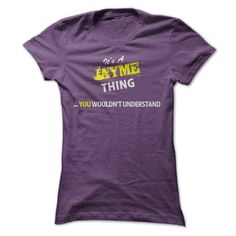 Its A JAYME thing, you ⑦ wouldnt understand !!JAYME, are you tired of having to explain yourself? With this T-Shirt, you no longer have to. There are things that only JAYME can understand. Grab yours TODAY! If its not for you, you can search your name or your friends name.Its A JAYME thing, you wouldnt understand !!