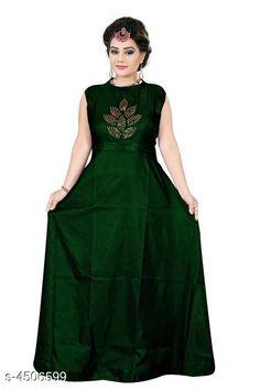 Gowns Stylish Taffeta Silk Diamond Work Women's Gown Fabric: Taffeta Silk Sleeve Length: Three-Quarter Sleeves Pattern: Printed Multipack: 1 Sizes: XL (Bust Size: 42 in Length Size: 55 in Waist Size: 38 in Hip Size: 43 in)  L (Bust Size: 40 in Length Size: 55 in Waist Size: 36 in Hip Size: 41 in)  XXL (Bust Size: 44 in Length Size: 55 in Waist Size: 40 in Hip Size: 45 in) Country of Origin: India Sizes Available: L, XL, XXL   Catalog Rating: ★4.1 (779)  Catalog Name: Stylish Taffeta Silk Diamond Work Women's Gowns CatalogID_651197 C79-SC1289 Code: 843-4506599-138