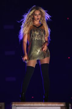 "celebsofcolor: "" Beyonce performs on stage during closing night of ""The Formation World Tour"" at MetLife Stadium on October 7, 2016 in East Rutherford, New Jersey. """