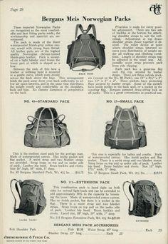 Bergans-Meis Norwgian Packs in original catalogue advertisement