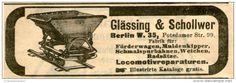 Original-Werbung/ Anzeige 1903 - FÖRDERWAGEN / GLÄSSING & SCHOLLWER BERLIN - ca. 100 x 40 mm