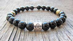 Leo zodiac sign bracelet Black onyx bracelet Zodiac jewellery Leo birthstone bracelet Zodiac bracelet Gift's for Leo Protection bracelet