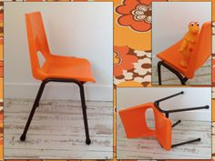 Chaise Brunswick orange