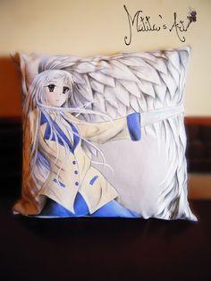 Angel Beats throw pillow by Matita's Art