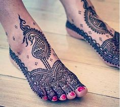 Top 50 Foot Henna Designs