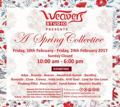 Weaver's Studio brings to you an exciting line up of designers for its February pop up.   This exhibition will be up until February 24 at our store.