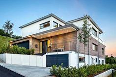 Architect house Image 6765 - Build Container Home Architecture Bauhaus, Le Corbusier Architecture, Modern Architecture House, Modern Buildings, Architecture Design, Future House, My House, Hillside House, Dream House Exterior