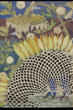 Charles Burchfield.  Sunflower.  August 15, 1915.  Watercolor and pencil on paper.  Archives, Burchfield-Penney Art Gallery.