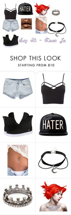 """Say It - Tove Lo inspired o.f"" by kyra-pretorius on Polyvore featuring Charlotte Russe, Supra, Loree Rodkin and Manic Panic"