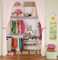 maximize space in your dorm room with a curtain closet