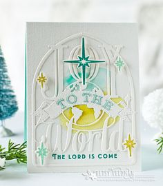 Joy To The World Card by Betsy Veldman for Papertrey Ink (October 2016)