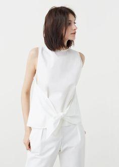 Geknotetes baumwoll-top - Blusen für Damen | MANGO Deutschland