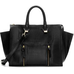 Zara Leather City Bag With Pocket And Zips and other apparel, accessories and trends. Browse and shop 61 related looks.