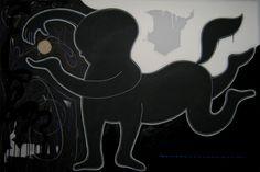 """andrea mattiello """"la luna tra le mani"""" acrilico,smalto,pastello e grafite; cm 150x100; 2011 #andreamattiello #mattiello #arte #art #contemporaryart #italianartist #artista #artista #emergente #acrilico #tela #tecnicamista #acrylic #canvas #collage"""