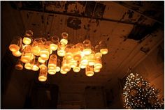 mason jar light fixture by fannie